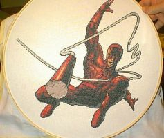 Daredevil Cross-Stitch by saber4734