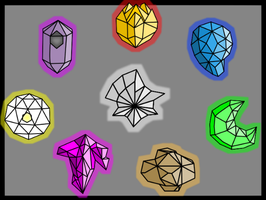The eight elemental stones by Pizaru-Chu