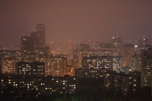 Moscow in Night by Artemy-is-Tema