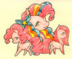 Slides of Pinkie Pie by Eothnoguy