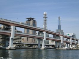 Kobe Japan highway by RockabillyRebel87