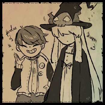 A witch and a little brat by noof3310