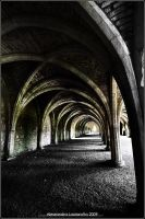 Fountains Abbey Crypt by Elwinga