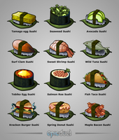 Game Evolving Sushi Achievements by charfade