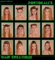 Hair creations: green edition by petaa