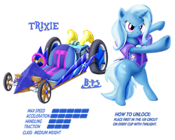 PonyKart - Trixie by Blue-Paint-Sea