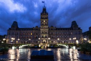 Quebec Parliament Building at Night by CyclicalCore