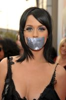 Katy Perry duct tape gagged by ikell