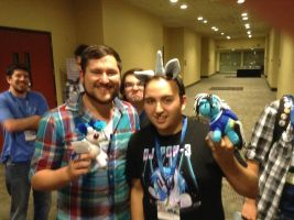 Glitch Spark and SaberSpark at BronyCon by SunnyFaceMLP