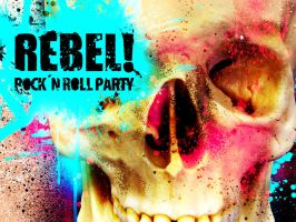 Rebel Skull Wallpaper by thedsw