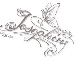 Tattooflash Josephin Lettering by 2Face-Tattoo