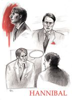 Hannibal - sketches by Psyche-Evan