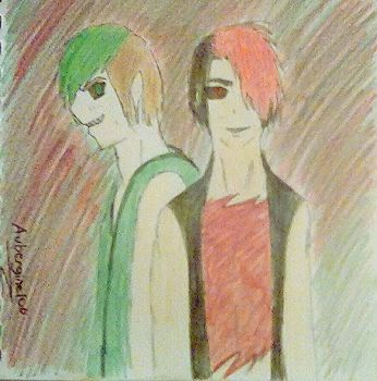 Antisepticeye and Darkiplier by Aubergine100