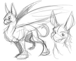 1-minute gryphon by Lizkay