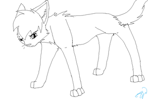 Cat Lineart by sithdog1