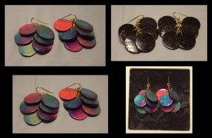 Galaxy Earrings by ACrowsCollection