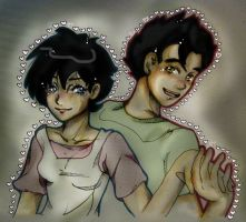 Videl and Gohan by SilverLockets