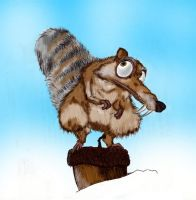 Scrat ICE AGE by Shagohod88