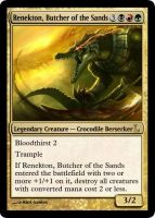 MtG - Renekton, Butcher of the Sands by soy-monk