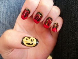 Hunger Games nails by QueenAliceOfAwesome