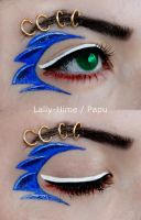 Sonic The  Hedgehog- Make-up by Lally-Hime