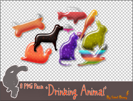 Drinking Animal png by RadcliffeftShin