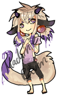 Paintbrush Demon Adoptable Auction [closed] by MachineRaven