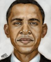 Obama Speedpainting by MikeMeth