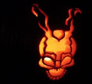 Frank the Bunny pumpkin by donniedarko-club
