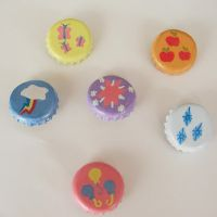 MLP Cutie Mark Bottlecap Buttons by LeiliaK