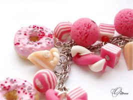 Bracelet 'Pink donuts' 3 by OrionaJewelry