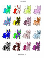 FREE ADOPTABLES by Julia-adopts