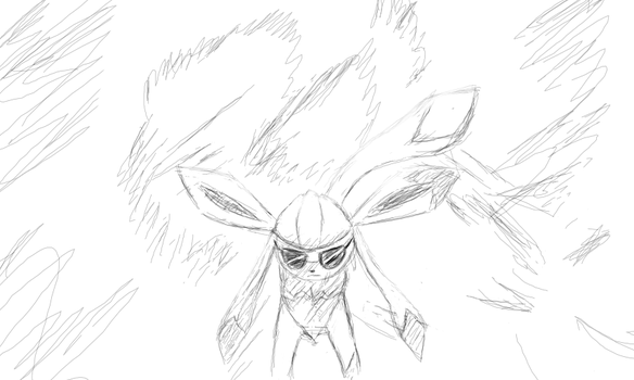 Badass Glaceon Walking Away From Explosion Thing by Doitean