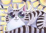 Silver Tabby Funny Cat Zoid by KingZoidLord