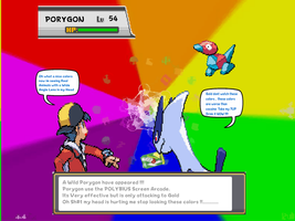 Gold and Lugia vs Porygon Sprite Comic by DarkraDx