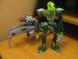 Bionicle special edition:Lesovikk and his sea sled by TheAxelandx1