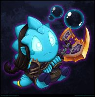 Bubble Bobble Draenei by andrea-koupal