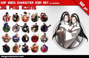 Kof 2003 Character Icon Set by shangerz