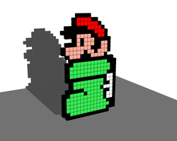 Goomba's Shoe 8 Bit Voxel by todd102030