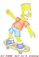 Bart on his board by StupidLittleCreature