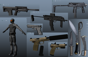 Basic Enemy and Some Weapons by DemonSlayerSaga