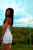 latina model - blue sky by n3crofago