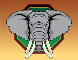 African Elephant vector by fireforgegrafx