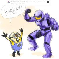Despicable Me - RVB - Caboose and Minion by jameson9101322