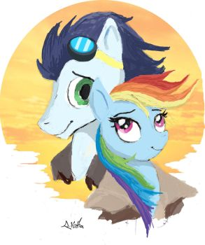 Rainbow Dash and Soarin by TheLivingShadow