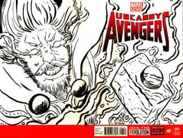 Thor Sketch Cover by cheshirecatart