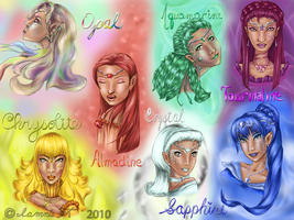 The Seven Crysalias Sisters by iamniquey