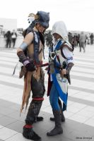 Ratohnhaketon and Connor Kenway Cosplay _ One Soul by 6Silver9