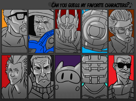 Guess My Favorite Characters by SuperKusoKao
