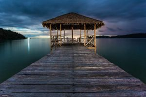 Saracen Bay Jetty by cwaddell